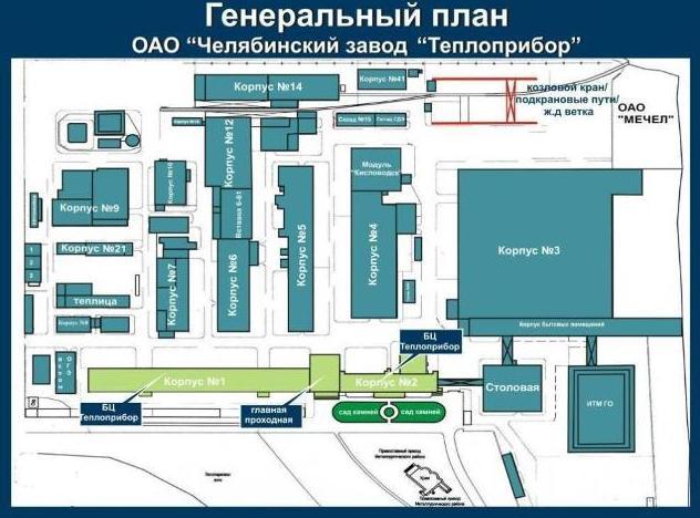 Генеральный план компании Теплоприбор